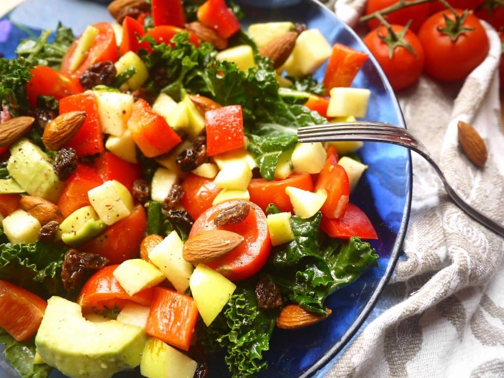 Naturally Sweet & Crunchy Paleo Kale Salad| Perchance to Cook, www.perchancetocook.com